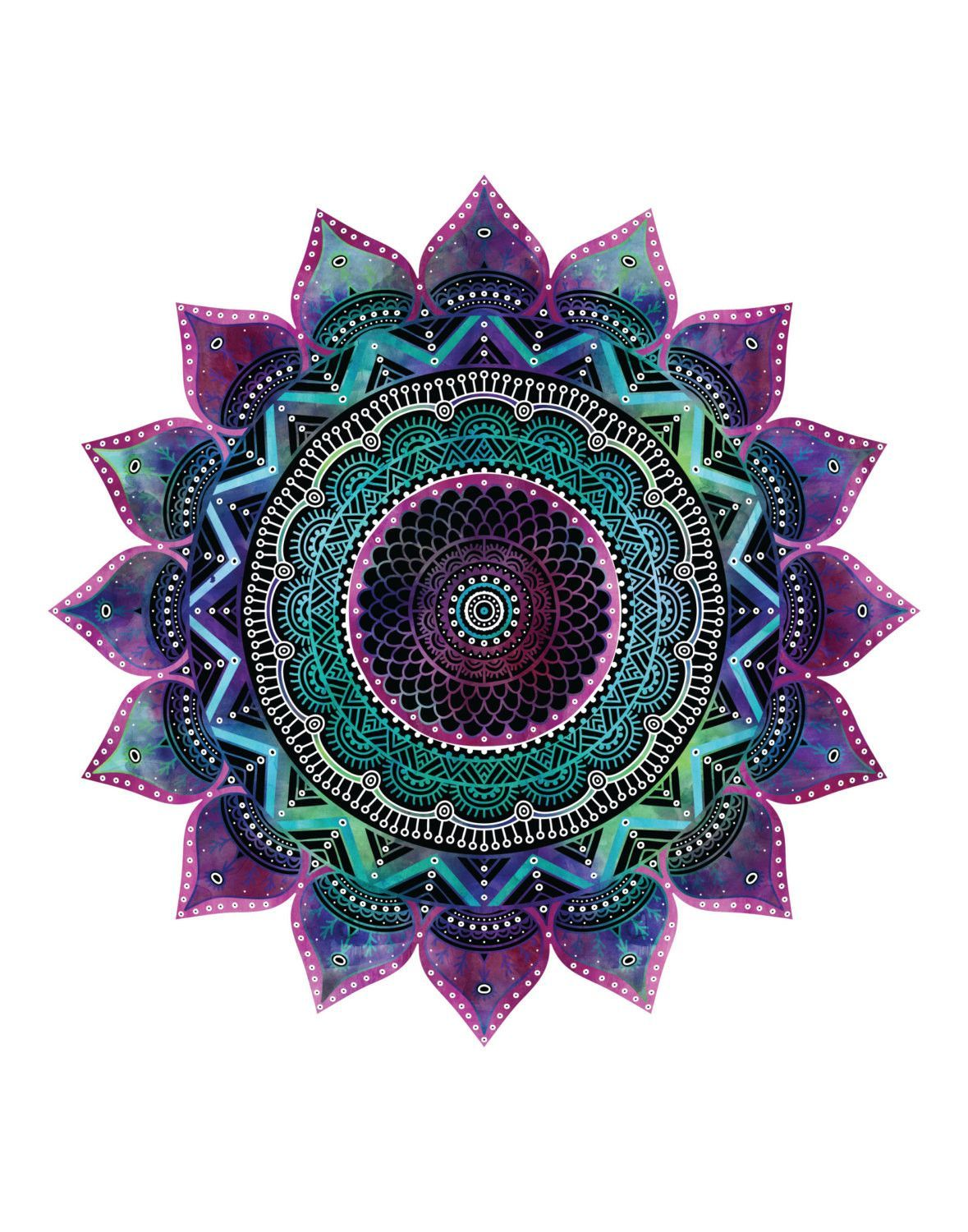 This mandala print will bring a touch of joy and ...