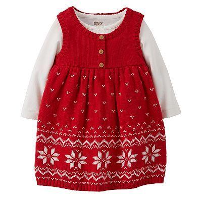 Carter S Fairisle Knit Sweater Jumper Amp Bodysuit Set
