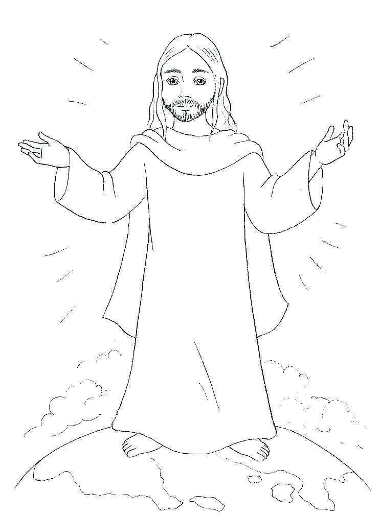 Free Easter Jesus Coloring Pages