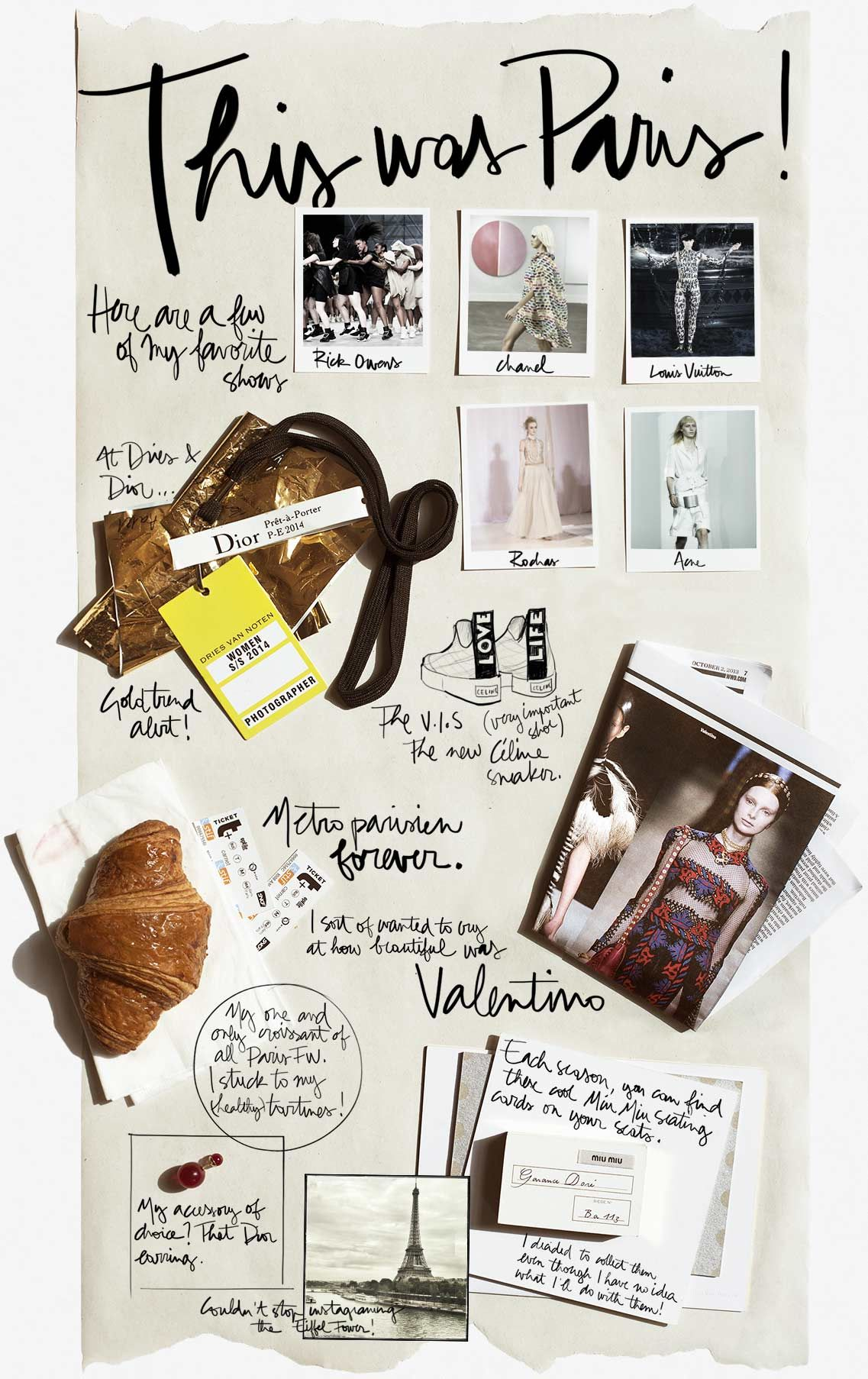 ASH A visual journal of a different format, this collation of representative tokens, images and other souvenir memorabilia is displayed openly on a single length of paper, with roughly scribbled annotations which succinctly give both personal and literal insight into the purpose of each item.