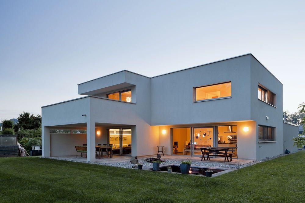 Hanghaus einfamilienhaus r this modern massivbau moderne architektur haus l form modern - Architektur einfamilienhaus modern ...