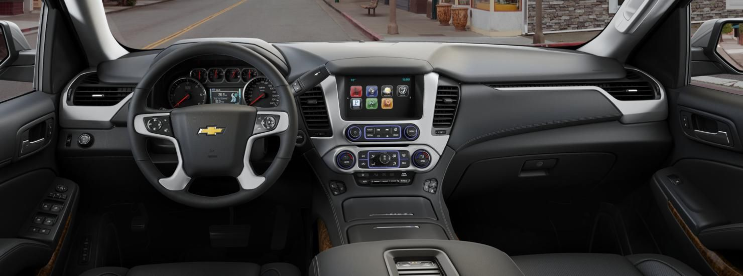 Tahoe chevy 2015 tahoe : Interior view for Jet Black, Perforated leather-appointed seat ...
