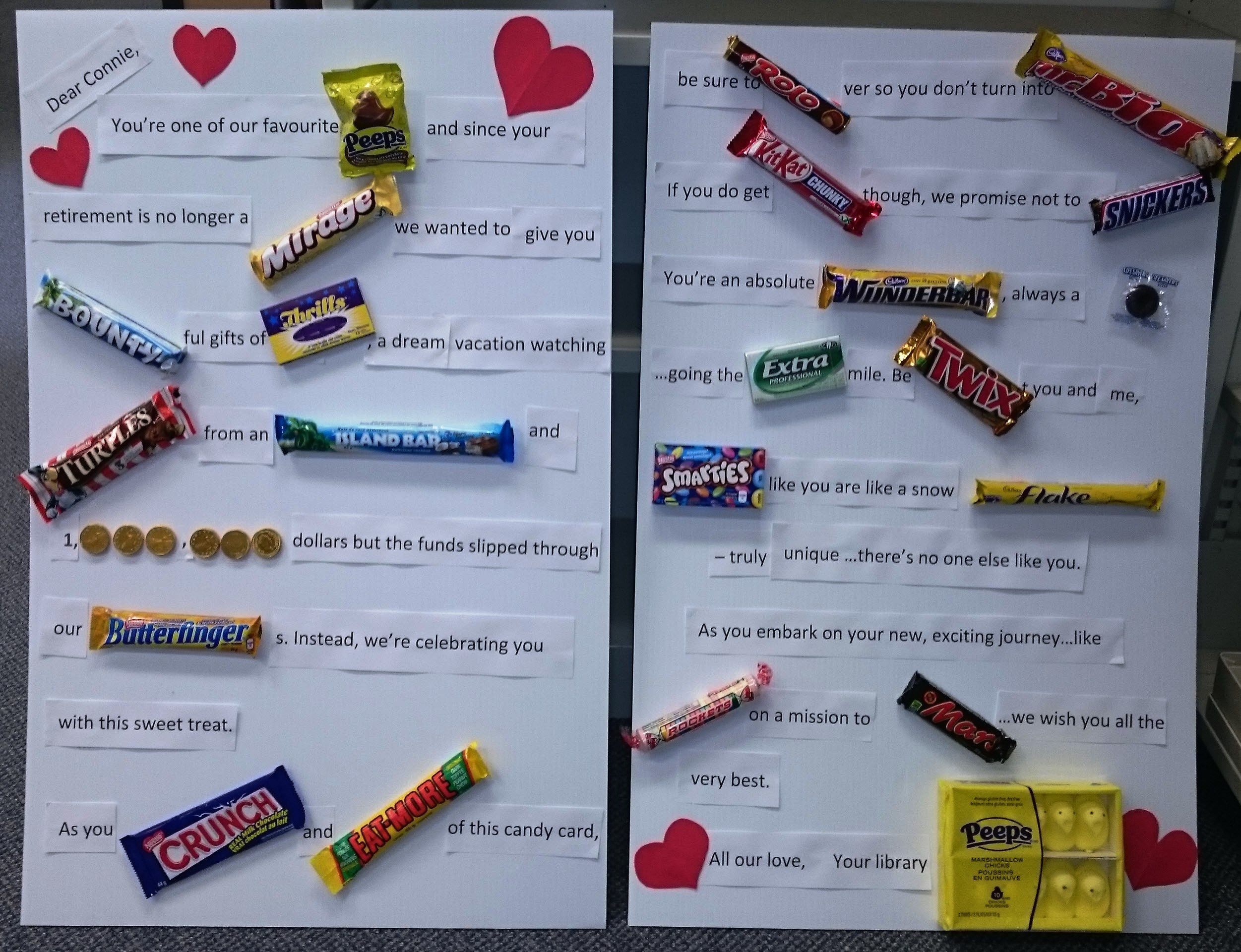 Retirement Candy-gram | Candy grams, Diy gifts, Gifts