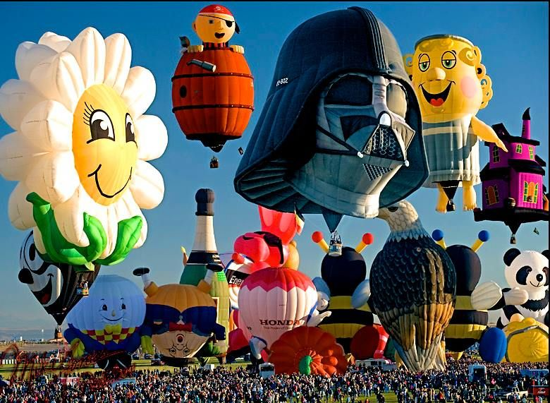 Albuquerque International Balloon Fiesta- I remember almost all of these balloons were there when I went!