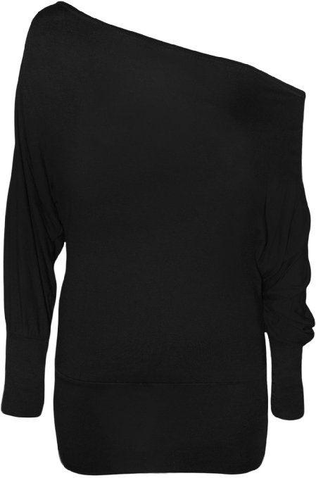3e4e597a49388 Amazon.com  PaperMoon Women s Off-Shoulder Batwing Top  Clothing ...