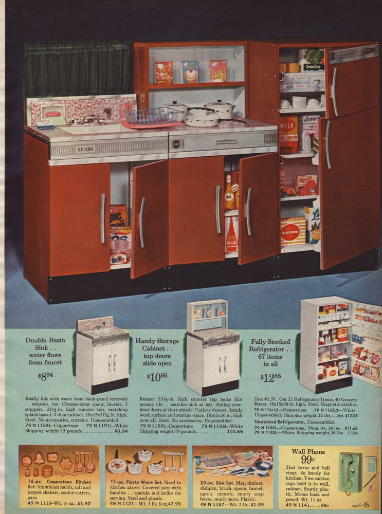 1964 Sears Wishbook   Little Kitchen ( I Would Have Killed For This.