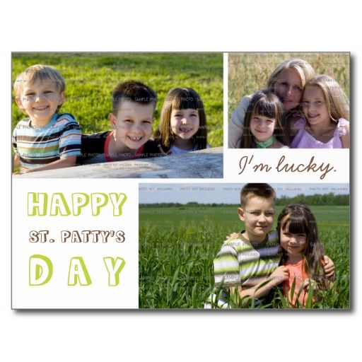 st patrick s day photo collage postcard template