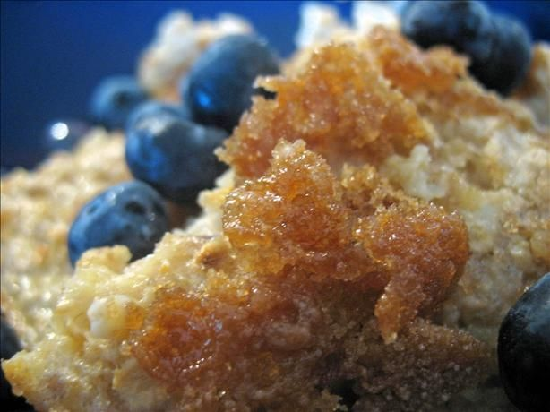 Baked oatmeal creme brulee style