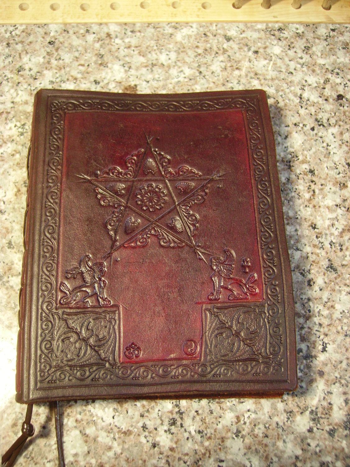 Magickal Ritual Sacred Tools: Handtooled Leather Journal ~ Book Of Shadows,  Diary, Etc Wiccan