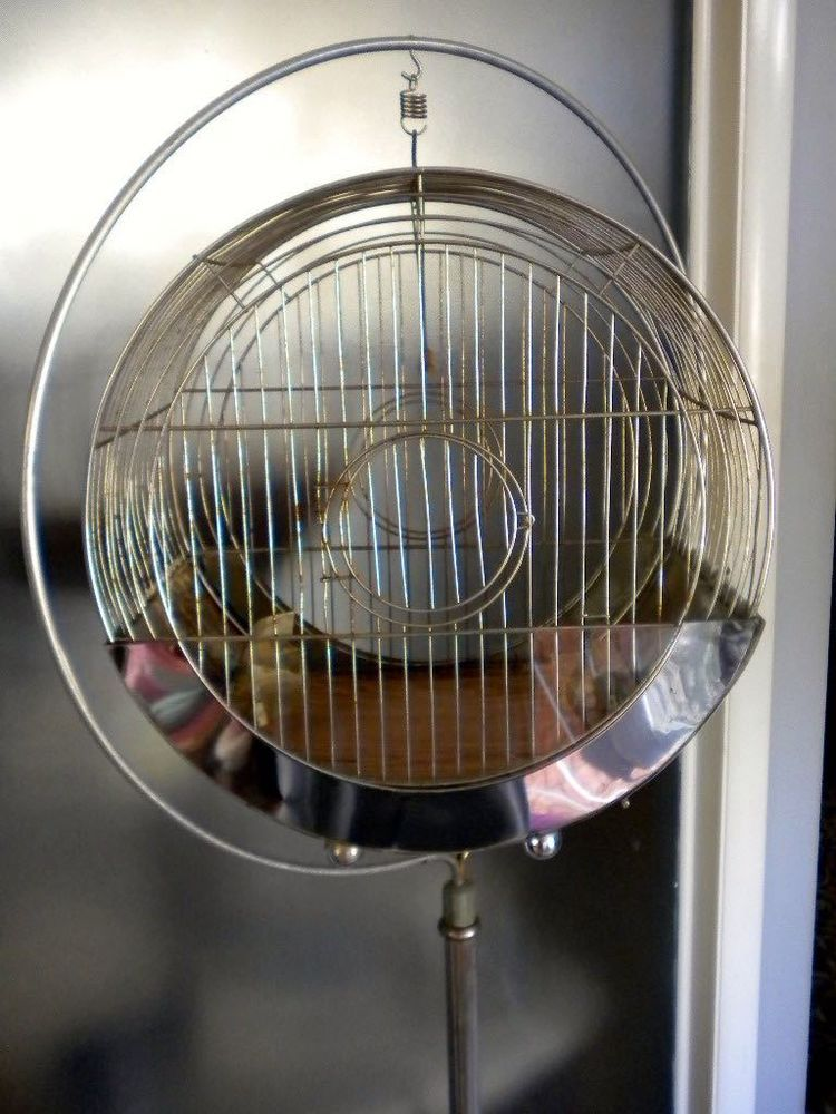 "Vintage Art Deco Hendryx ""Hat Box"" Bird cage Super Rare!"