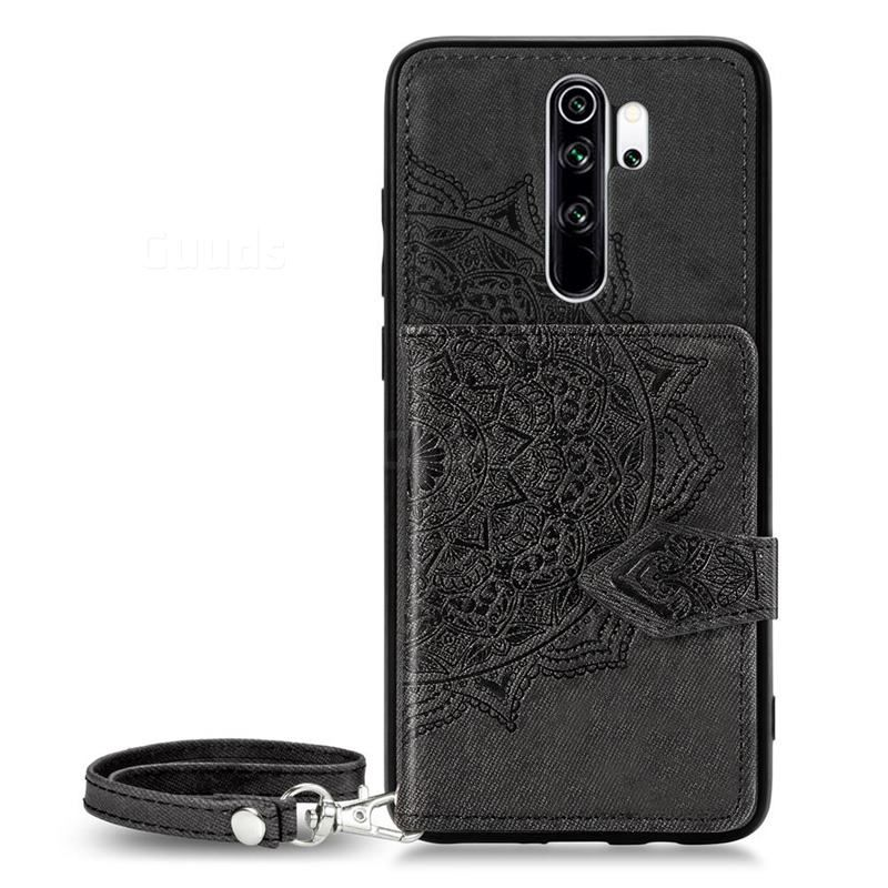 Mandala Flower Cloth Multifunction Stand Card Leather Phone Case For Mi Xiaomi Redmi Note 8 Pro Black Xiaomi Redmi Note 8 Pro Cases Guuds Leather Phone Case Phone Cases Flower Mandala