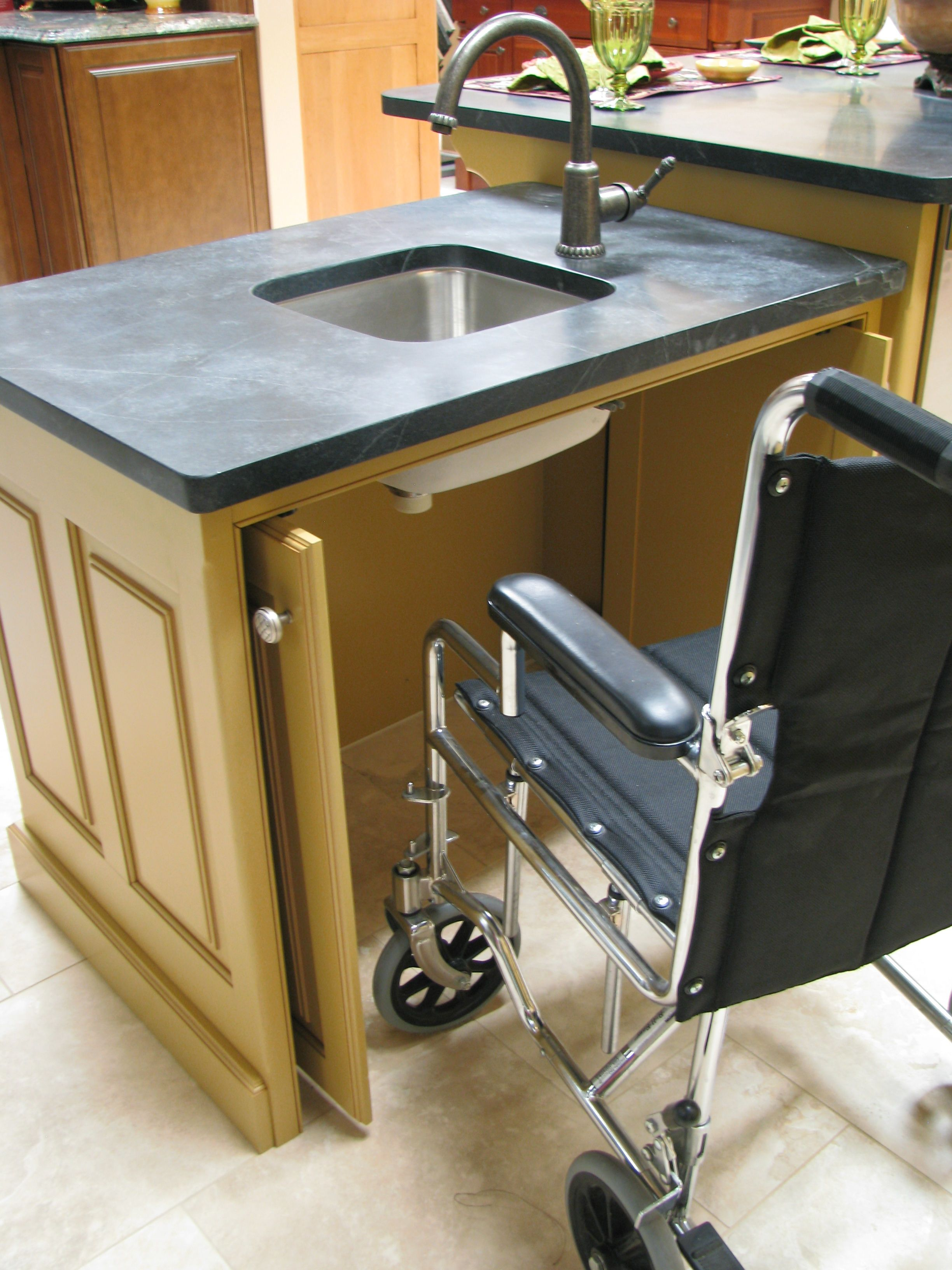 Wheel Chair Access For Sink Cabinet  Design Projects  Pinterest Unique Sink Cabinet Kitchen Design Decoration