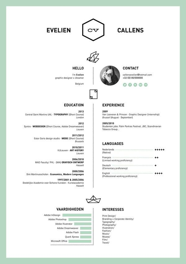 15 beautiful resume designs for your inspiration Beautiful - beautiful resume designs