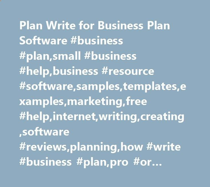 Plan Write for Business Plan Software #business #plan,small - sample small business plans