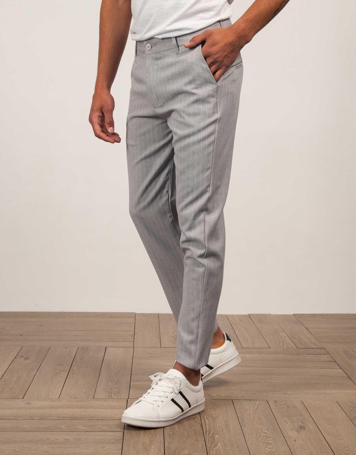 Pantalon Vestir Raya Diplomatica Gris Claro Jvz Vestido Raya Diplomatica Pantalones Moda Ropa Hombre