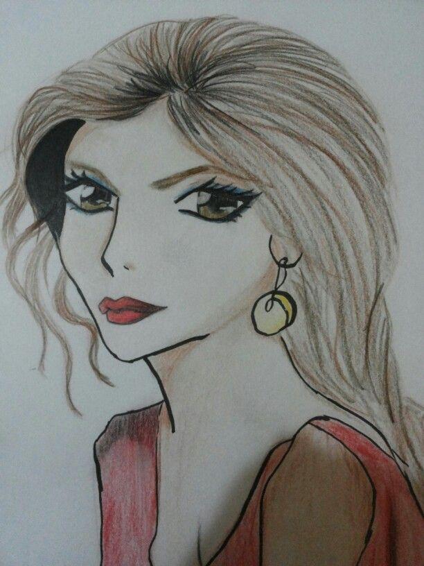 الممثله الهنديه ديبيكا بادكون على شكل انمي Female Sketch Art Female