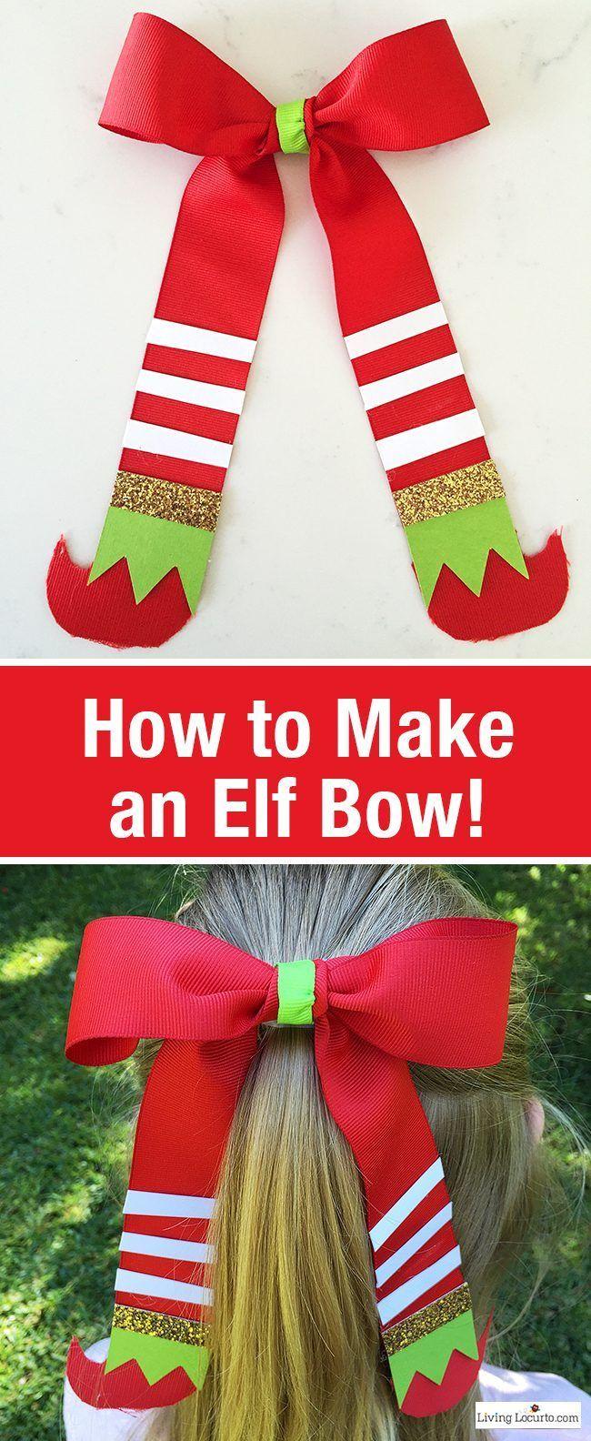 How To Make An Elf Hair Bow Christmas Bows Diy Christmas Hair Bows Christmas Bows