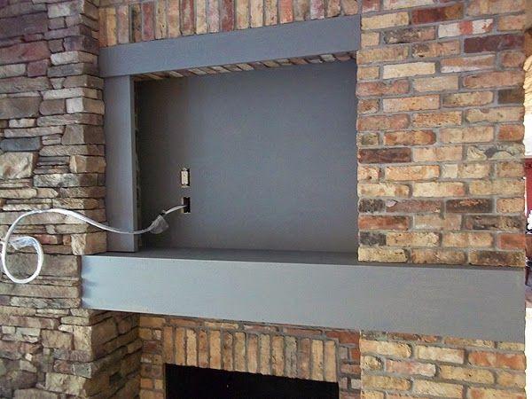 Paint Brick To Look Like Slate, How To Paint A Brick Fireplace Look Like Stone