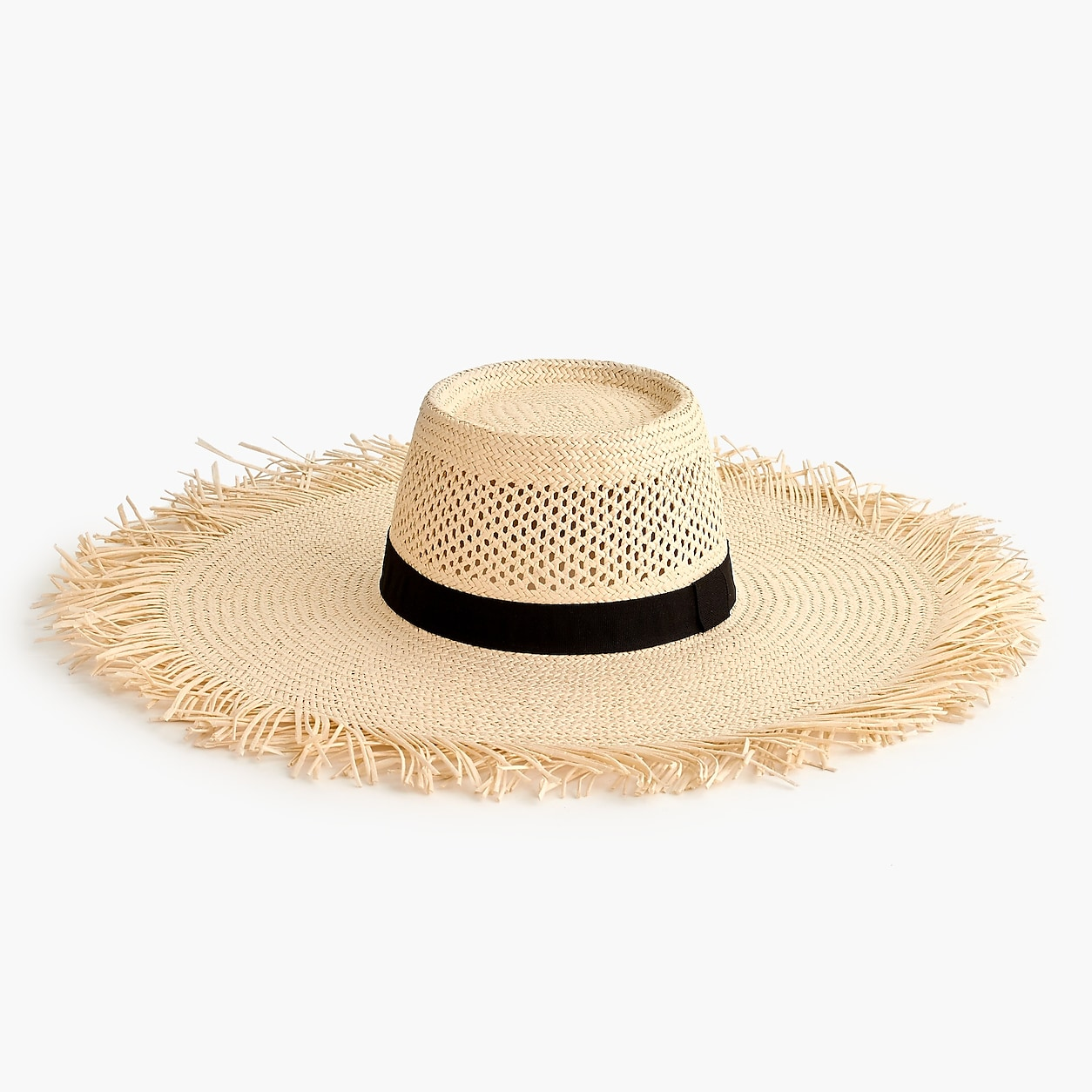 f21e3d9e Wide Brim Straw Hat With Fringe   Products   Hats, Women's ...