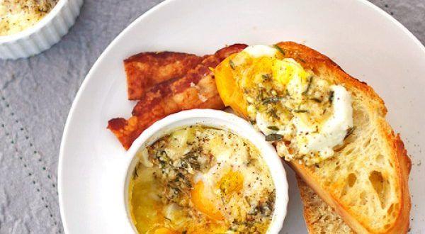 Receta Huevos con parmesano al horno – Los Sabores de México y el mundo