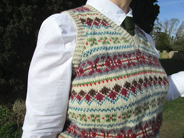 The Most Bewilderingly Intricate Fair Isle Pullover | Fair isle ...