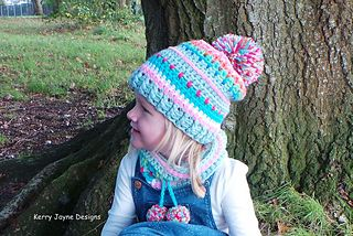 Inca hat and neck warmer