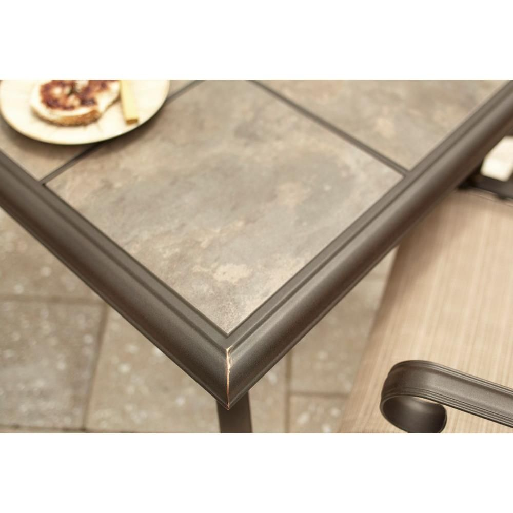 Hampton bay belleville 40 in square patio dining table fts80581 the home depot