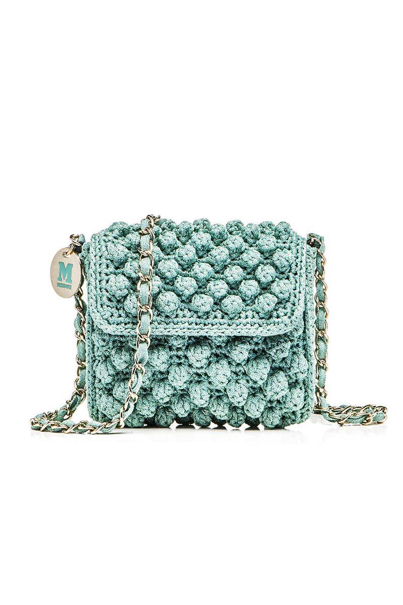 Favoloso M-Missoni - MINI TURQUOISE LUREX RAFFIA BAG | Crochet Bag  SX71
