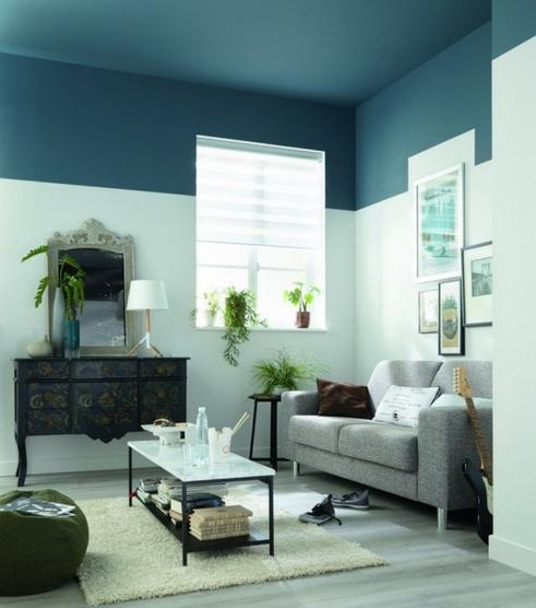 comment peindre un mur bicolore mi hauteur m6 style design pinterest plafond. Black Bedroom Furniture Sets. Home Design Ideas
