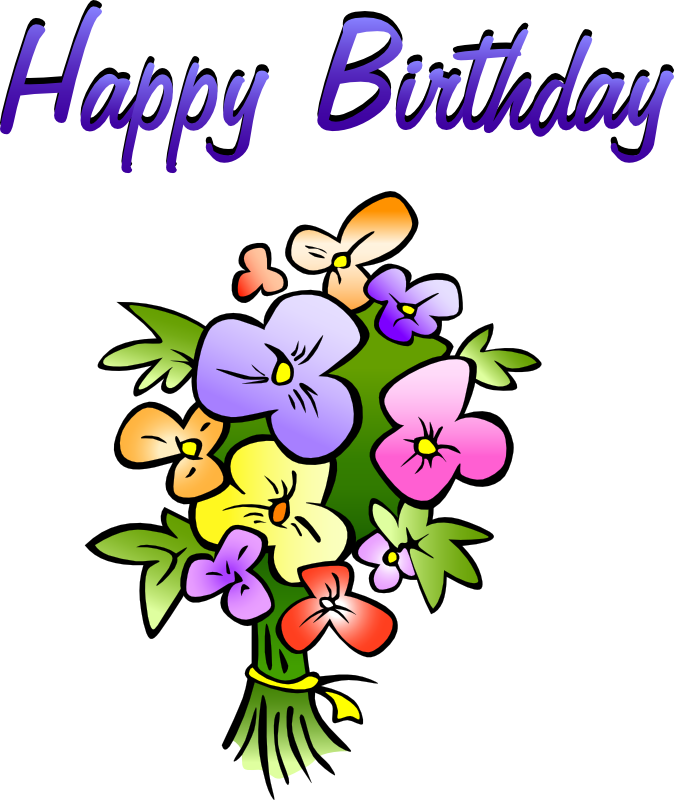 animated 20clipart 20free bouquets de flores pinterest rh pinterest com Late Birthday Wishes Late Birthday Wishes