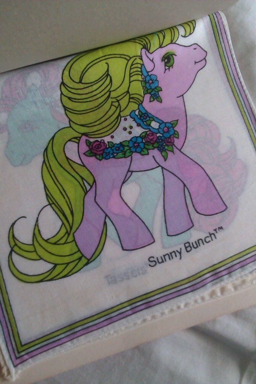 Lenzuola My Little Pony.Set Of 4 Handkerchiefs Featuring Merry Go Round Ponies 2 5 Mlp