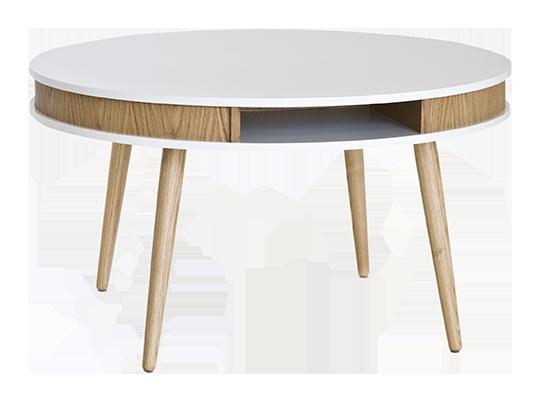 Merveilleux Hugo Affordable Designer Round Coffee Table, Oak/white U2013 Hemma Online  Furniture Store Singapore