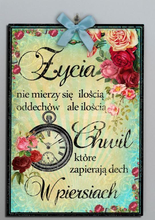 Zawieszka Tabliczka Retro Napisy Cytaty 5032246689 Oficjalne Archiwum Allegro Cardmaking Beautiful Words Motto