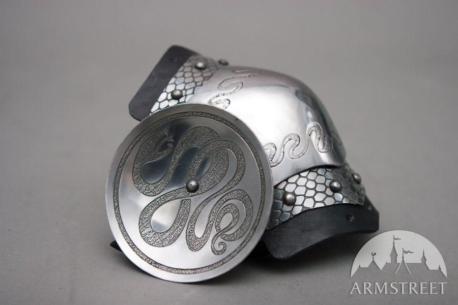 Fantasie Armschutz mit geätzem Muster