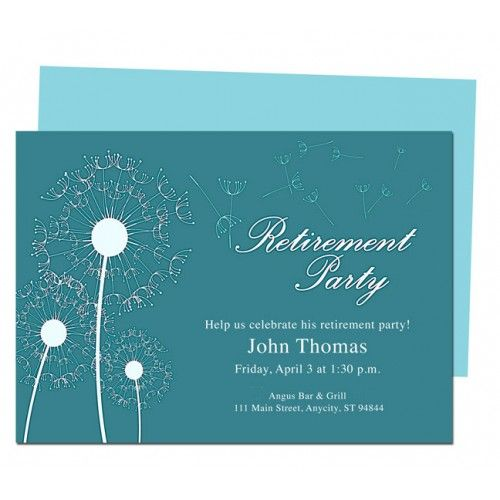 Winds Retirement Party Anniversary Template | Retirement ...
