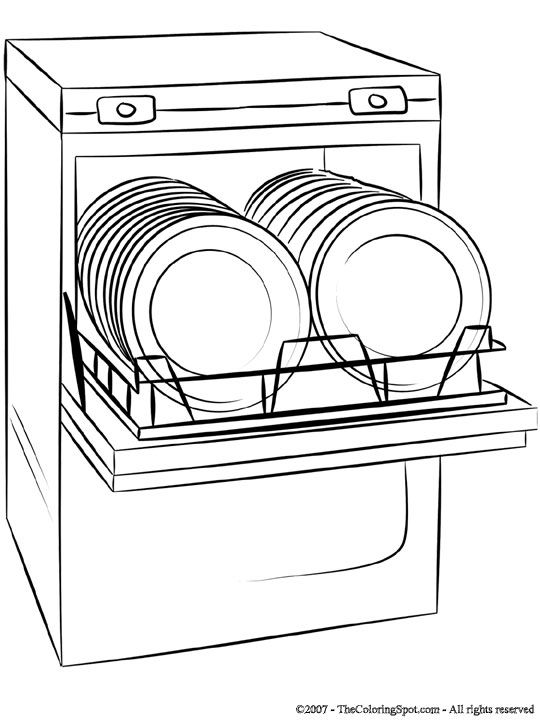 dishwasher clipart black and white. dishwasher colouring pages sketch coloring page clipart black and white c