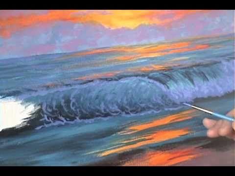 Comment peindre un coucher du soleil 6 sur la plage cour de peinture acr saber pinterest for Peindre sur du melamine