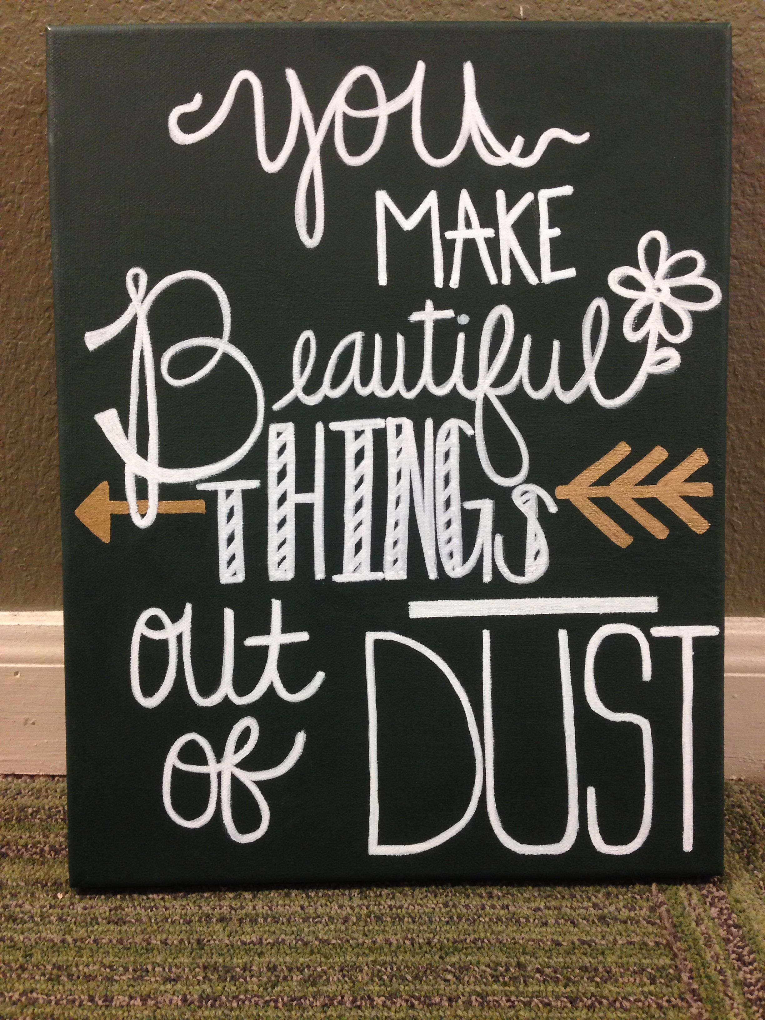 DIY Canvas Bible Verse Christian Song Lyric Anna Totten Loeppky