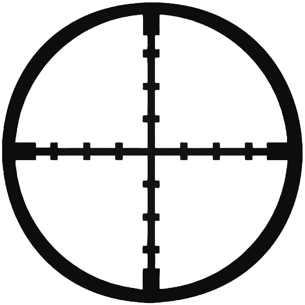 Sniper Crosshairs Rifle Military 1 Vinyl Decal Sticker