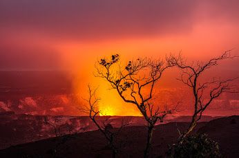 Mother Nature: Google+ Good morning from Kilauea cauldron in Hawaii´s National Volcano Park