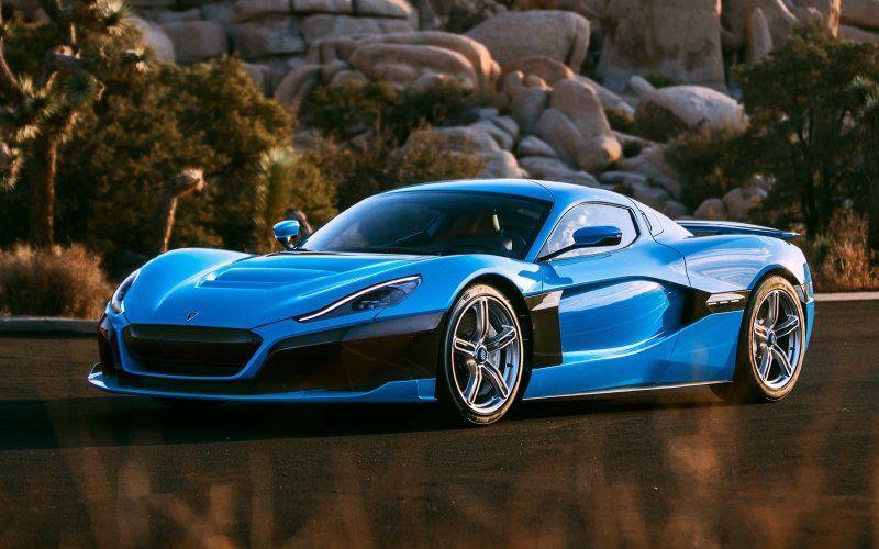 Wallpaper Blue Sports Car Rimac C Two Superdeportivos Autos Deportivos Autos Modernos