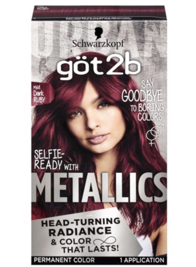 Got2b metallic permanent hair color | Hair color short dark ...