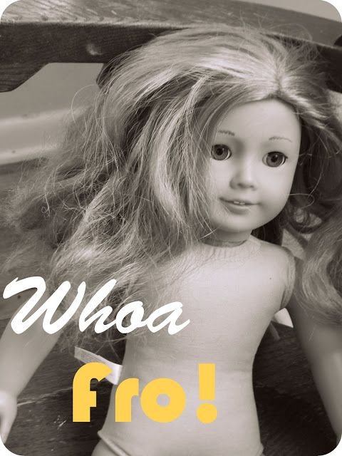 how to re-wig an American doll | Dolls & Softies | Pinterest