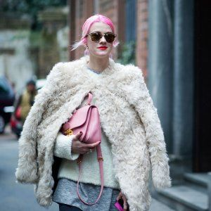 Milan Street Style, Day 2: Pink Hair and Fendi Clutches