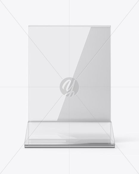 Plastic Table Tent Mockup Front View Mockups Pinterest Mockup - Plastic table tents