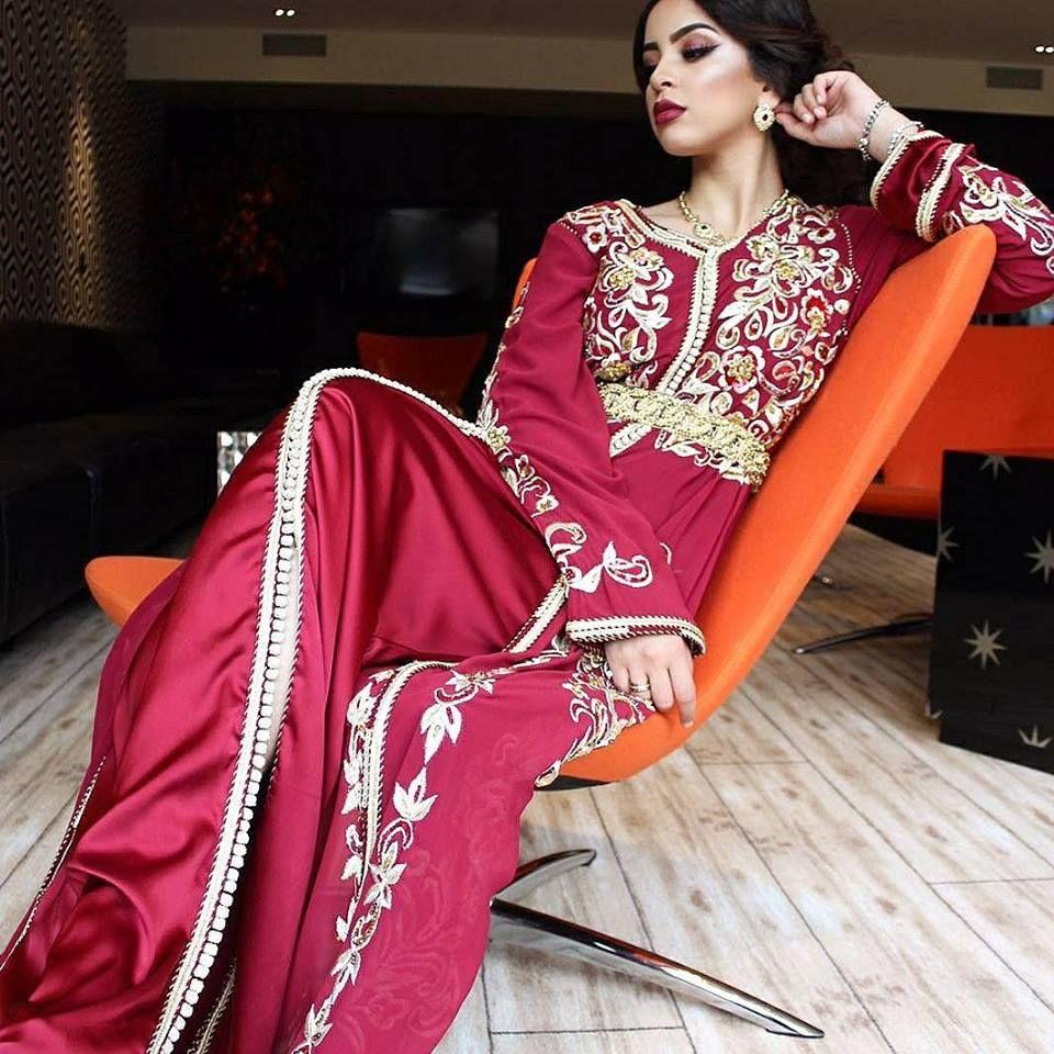 Boutique vente caftan Marocain de luxe 2018 - Vente takchita haute couture  pas cher  4f01d297e30