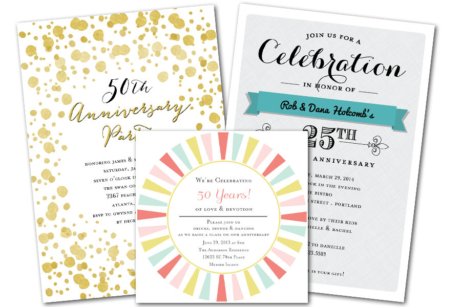 Email online anniversary invitations that wow greenvelope email online anniversary invitations that wow greenvelope stopboris Images