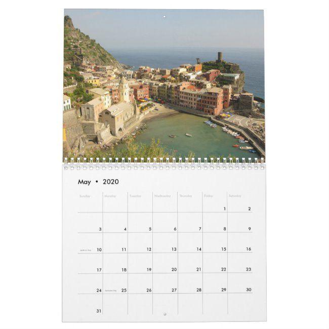 Cinque Terre Italy 2020 Tourism Holiday Calendar ,