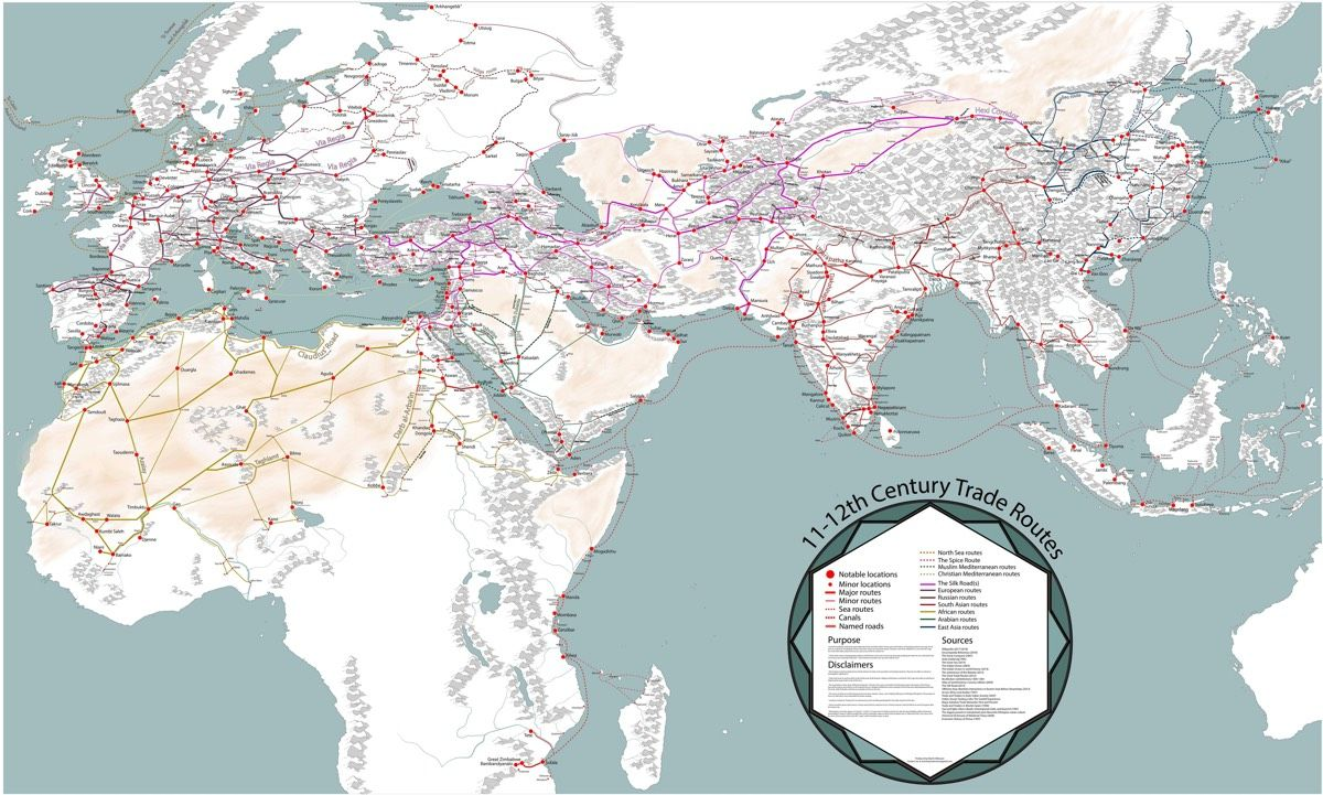 The Trade Routes Between Asia And Europe After The Discoveries Of