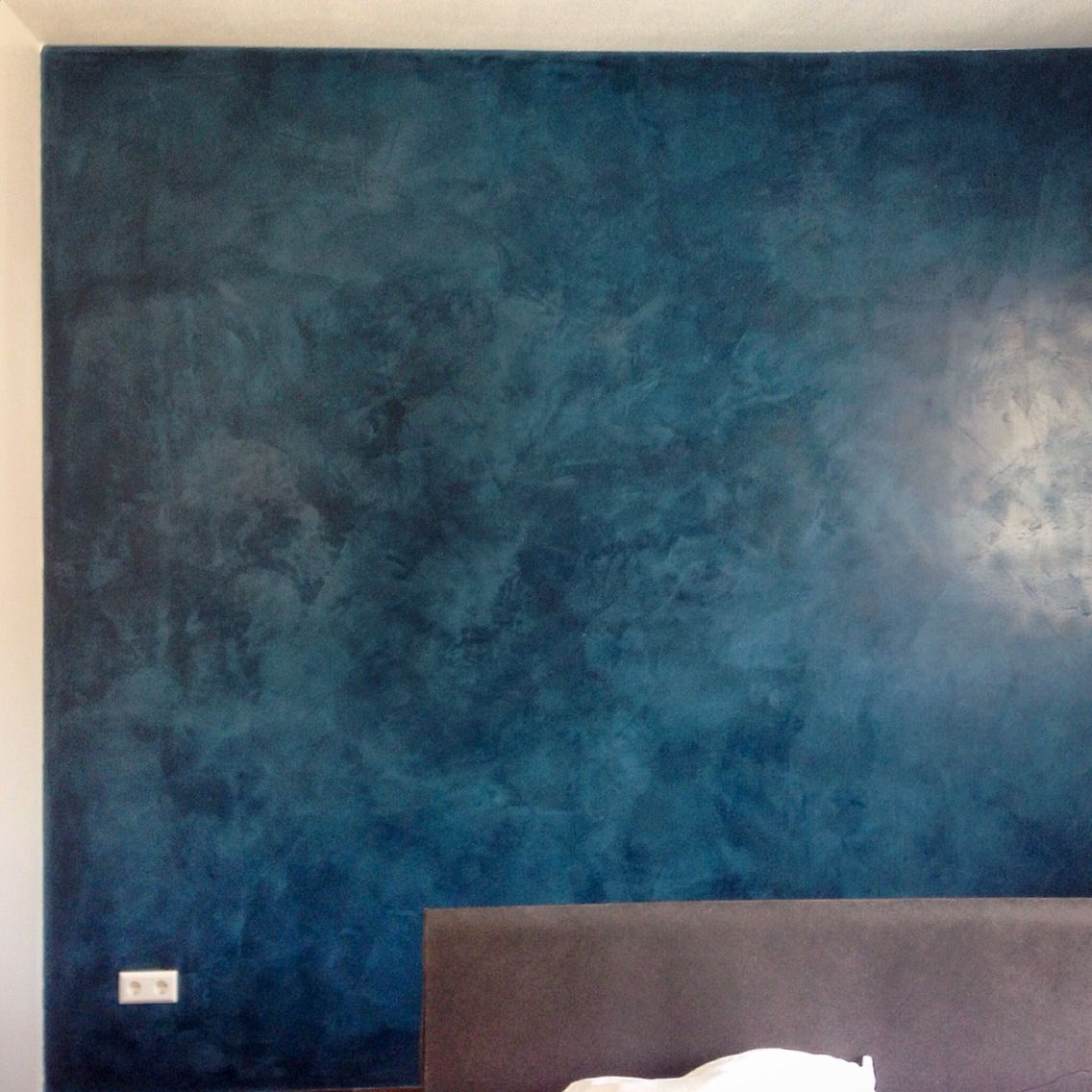 stucco lustro aquarius blue by dex home projects #muurvarken